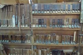 木材加工の道具・鉋の数々