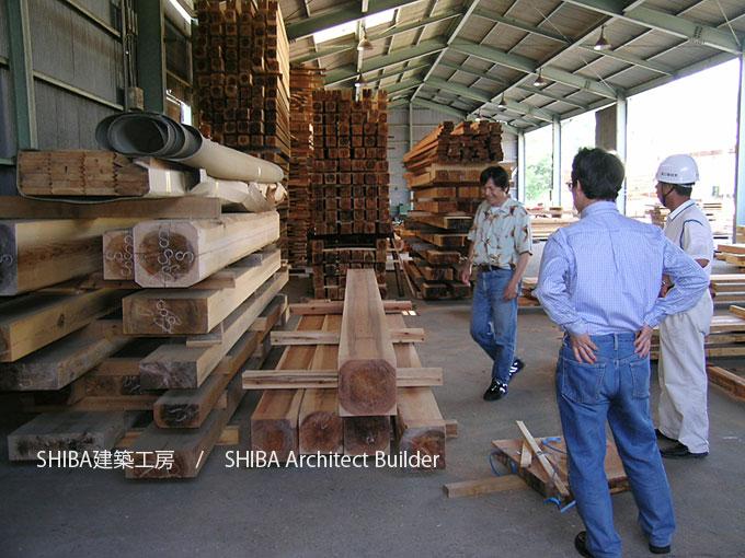 良質な木材の選択 カタログではなく、素材選びから始めます