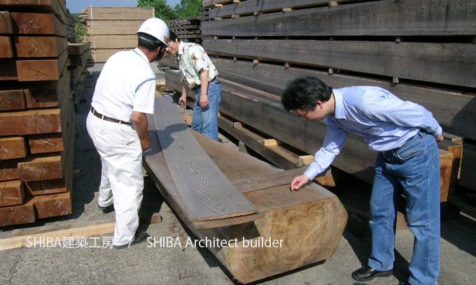 産地直送の木材