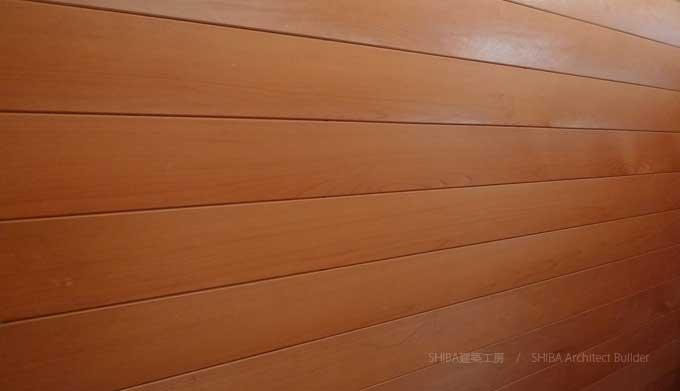 青森ヒバの壁板
