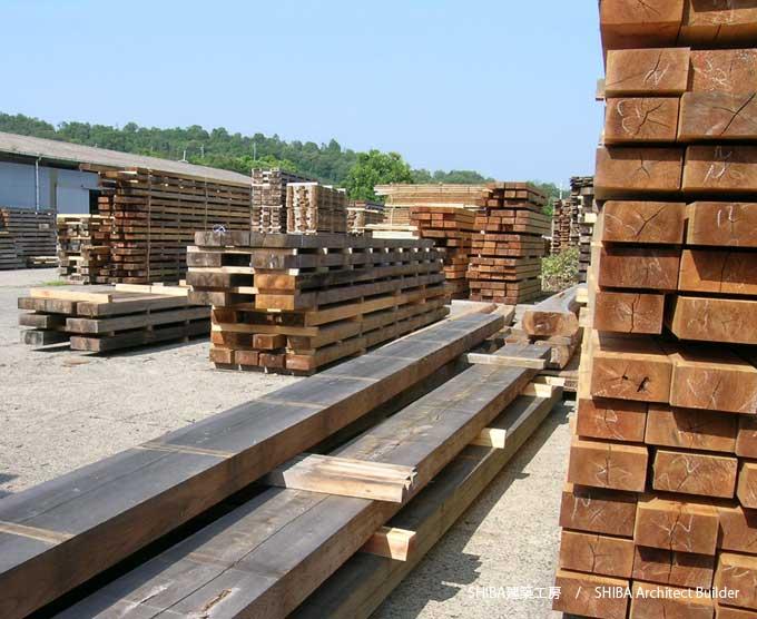 木材の天然乾燥